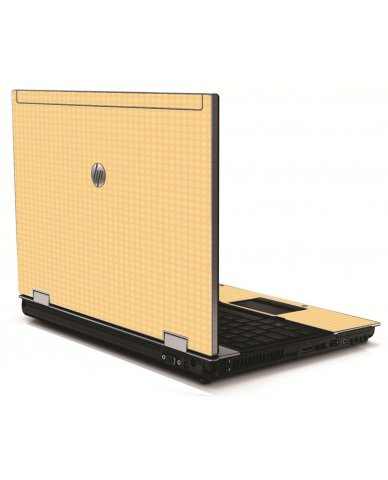 Warm Gingham HP 8540W Laptop Skin