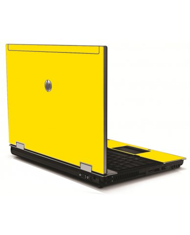 Yellow HP 8540W Laptop Skin