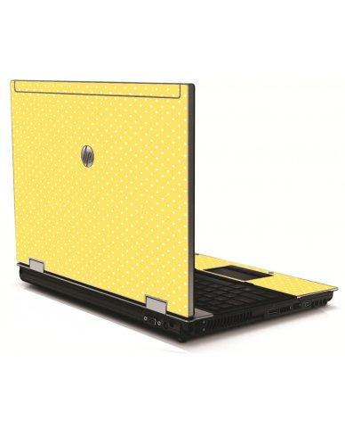 Yellow Polka Dot HP 8540W Laptop Skin