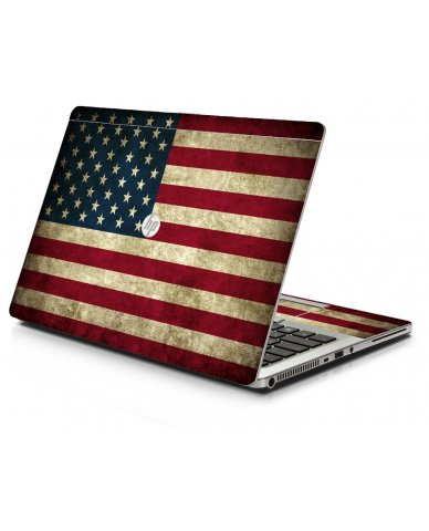 American Flag HP 9470M Laptop Skin