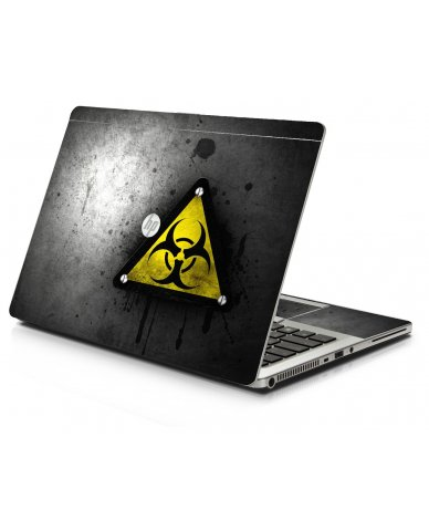 Black Caution HP 9470M Laptop Skin