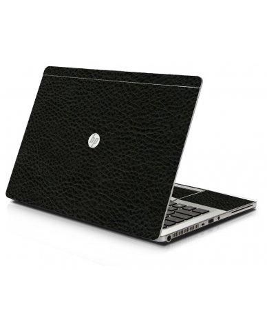Black Leather HP 9470M Laptop Skin