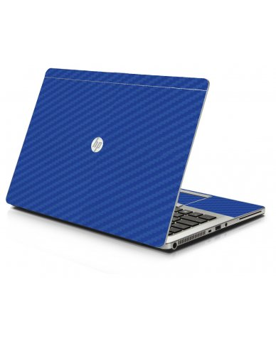 Blue Carbon Fiber HP 9470M Laptop Skin