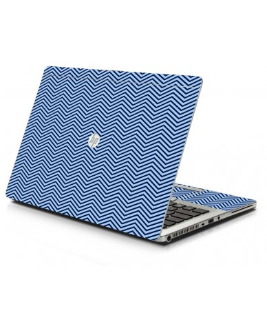 Blue On Blue Chevron HP 9470M Laptop Skin