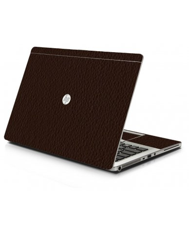 Brown Leather HP 9470M Laptop Skin