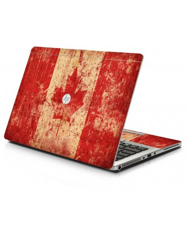 Canada Flag HP 9470M Laptop Skin