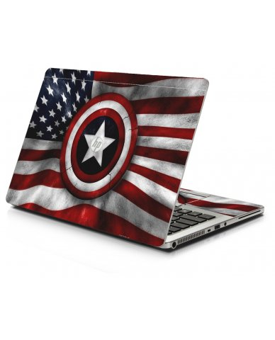 Capt America Flag HP 9470M Laptop Skin