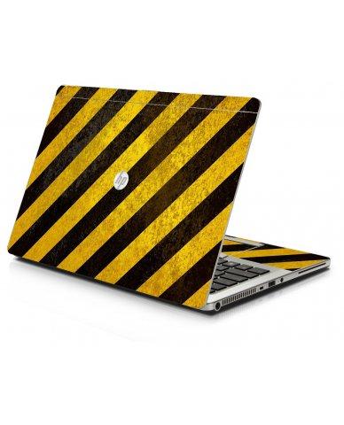 Caution Stripes HP 9470M Laptop Skin