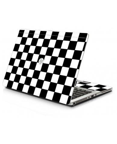 Checkered HP 9470M Laptop Skin