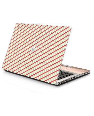 Circus Stripes HP 9470M Laptop Skin