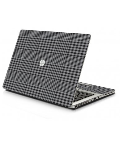 Darkest Grey Plaid 9470M Laptop Skin