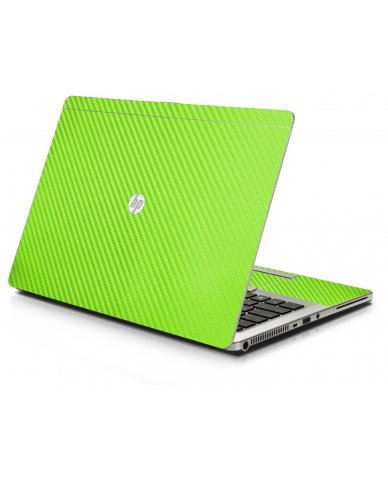 Green Carbon Fiber HP 9470M Laptop Skin