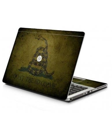 Green Don't Tread Flag HP 9470M Laptop Skin