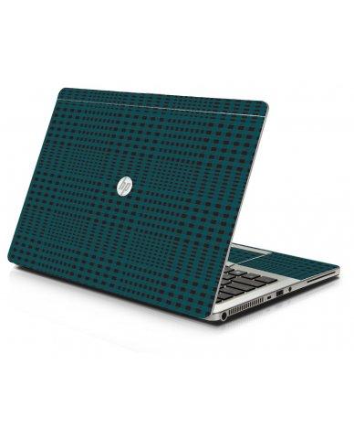 Green Flannel HP 9470M Laptop Skin