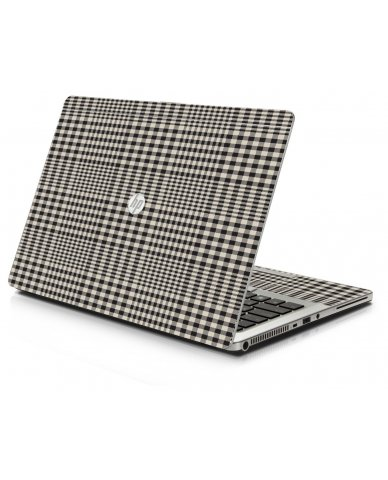 Grey Plaid HP 9470M Laptop Skin