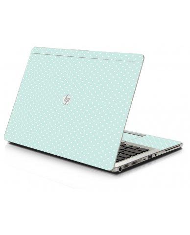 Light Blue Polka HP 9470M Laptop Skin