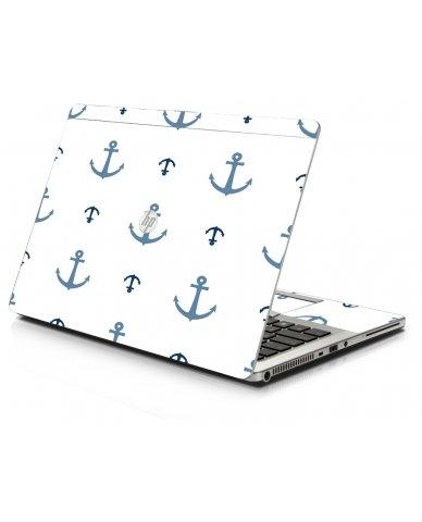 Multi Blue Anchors HP 9470M Laptop Skin