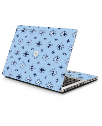 Nautical Blue HP 9470M Laptop Skin
