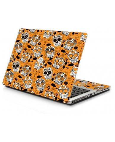 Orange Sugar Skulls HP 9470M Laptop Skin