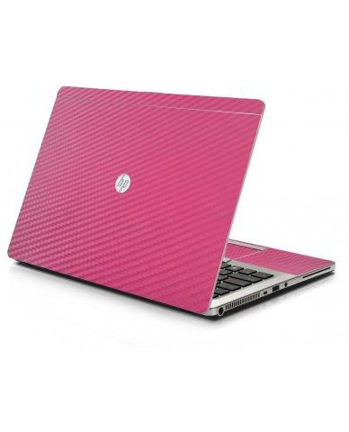 Pink Carbon Fiber HP 9470M Laptop Skin