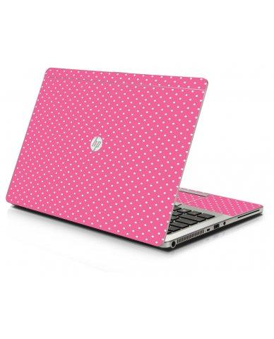 Pink Polka Dot HP 9470M Laptop Skin