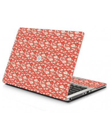 Pink Roses HP 9470M Laptop Skin