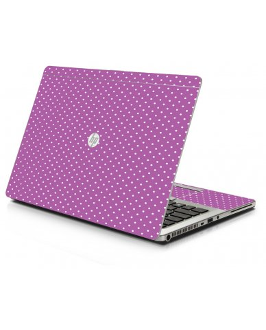 Purple Polka Dot HP 9470M Laptop Skin