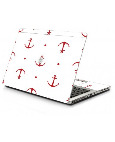 Red Anchors HP 9470M Laptop Skin