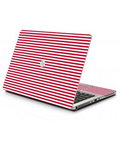Red Stripes HP 9470M Laptop Skin