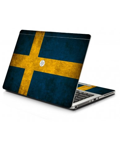 Swedish Flag HP 9470M Laptop Skin