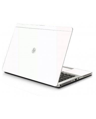 White HP 9470M Laptop Skin