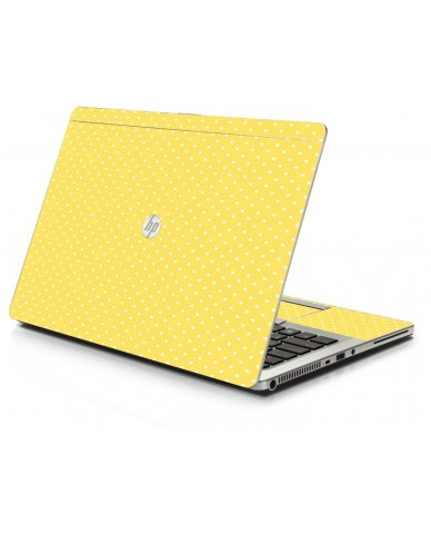 Yellow Polka Dot HP 9470M Laptop Skin