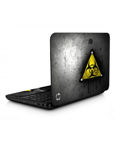 Black Caution HPG6 Laptop Skin
