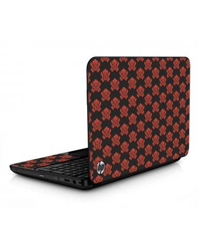 Black Flower Burst HPG6 Laptop Skin