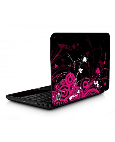 Black Pink Butterfly HPG6 Laptop Skin