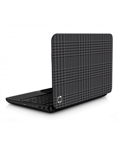 Black Plaid HPG6 Laptop Skin