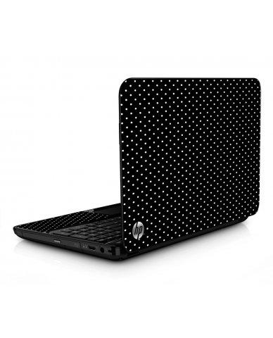 Black Polka Dots HPG6 Laptop Skin