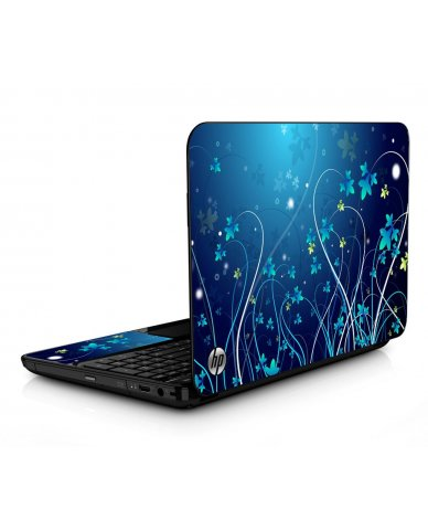 Blue Flowers HPG6 Laptop Skin