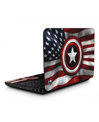 Captain America Flag HPG6 Laptop Skin