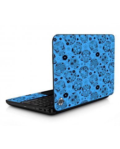 Crazy Blue Sugar Skulls HPG6 Laptop Skin