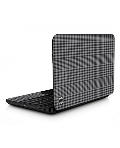 Darkest Grey Plaid HPG6 Laptop Skin