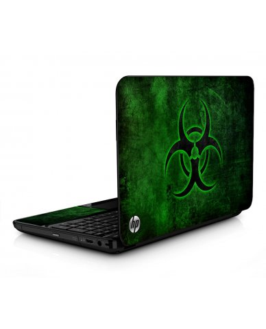 Green Biohazard HPG6 Laptop Skin
