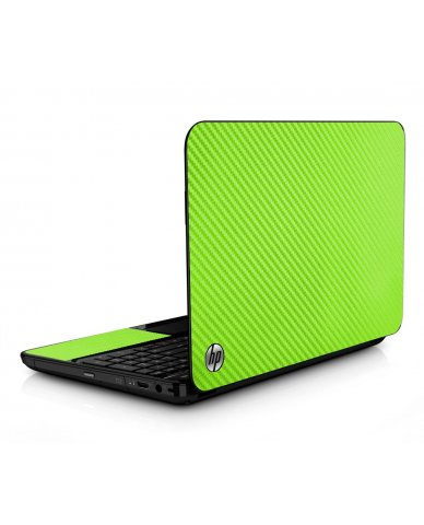 Green Carbon Fiber HPG6 Laptop Skin