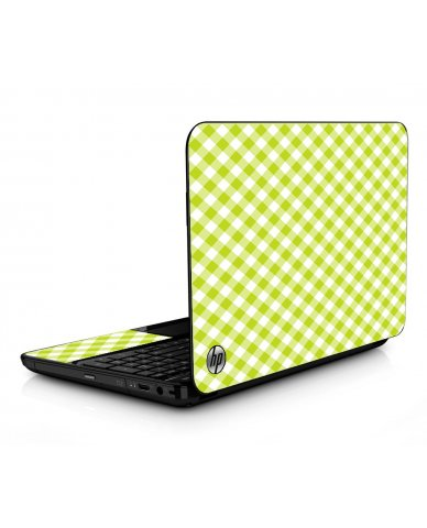 Green Checkered HPG6 Laptop Skin