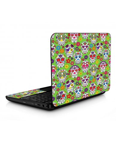 Green Sugar Skulls HPG6 Laptop Skin
