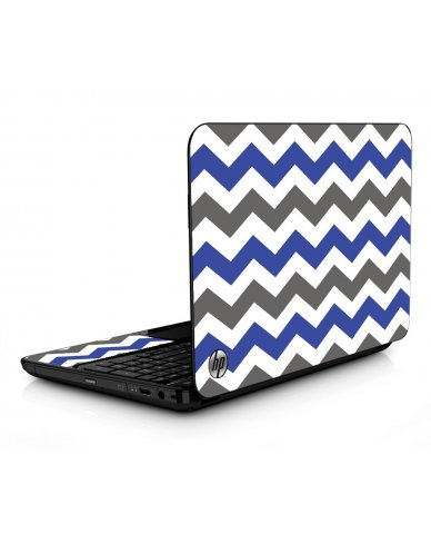 Grey Blue Chevron HPG6 Laptop Skin