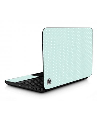 Light Blue Polka HPG6 Laptop Skin