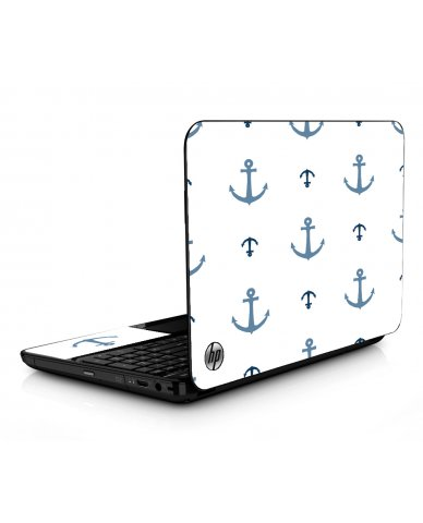 Multi Blue Anchors HPG6 Laptop Skin