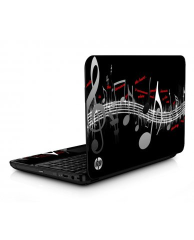 Music Notes HPG6 Laptop Skin