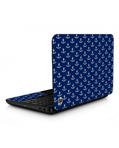 Navy White Anchors HPG6 Laptop Skin